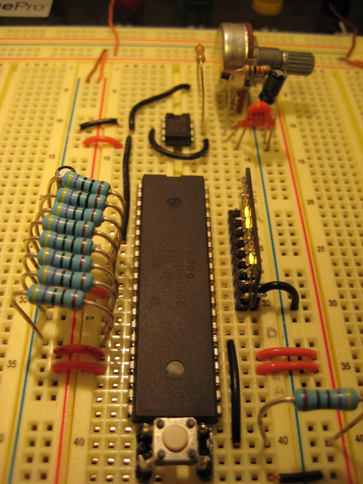 Z80 Test Circuit | Z80 Computer Project